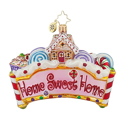 Christopher Radko Glass Home Sweet Home Christmas Ornament #1017776
