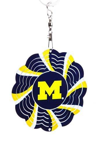 University Of Michigan Geo Spinner Christmas Ornament