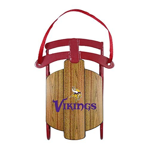 NFL Minnesota Viking Sled Ornament,3.5″ Tall, Purple by Topperscot by Boelter Brands