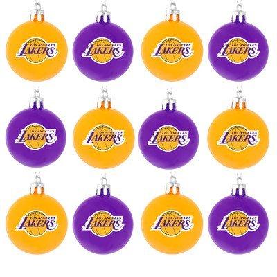 NBA Ball Ornament (Set of 12) NBA Team: Los Angeles Lakers
