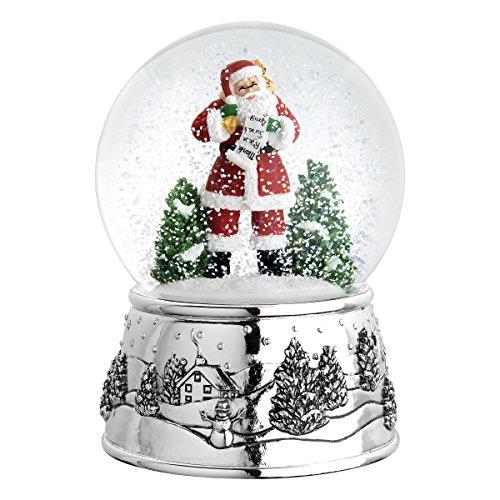 Reed & Barton 5065 Classic Christmas Snow Globe