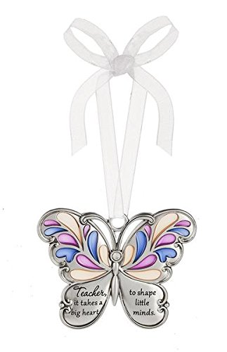 Ganz Butterfly Wishes Colored Ornament – Teacher, it takes a big heart to shape little minds