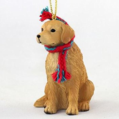Golden Retriever with Scarf Christmas Ornament (Large 3 inch version) Dog