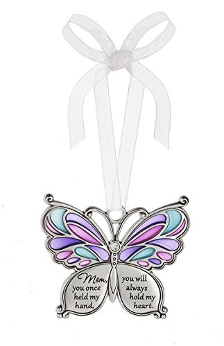 Ganz Butterfly Wishes Colored Ornament – Mom, you once held my hand, you will always hold my heart.
