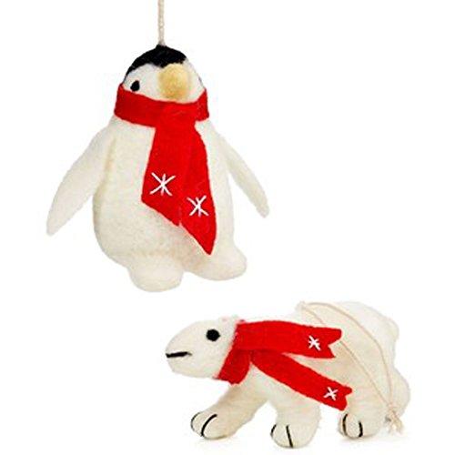 Holiday Lane Set of 2 Plush Animal Ornaments
