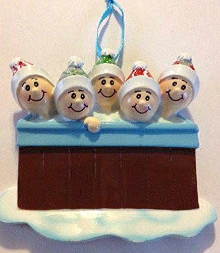 Hot Tub – 5 – Personalized Christmas Ornament
