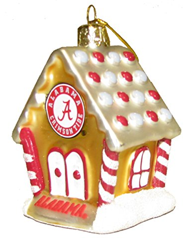 Alabama Crimson Tide Gingerbread House Ornament