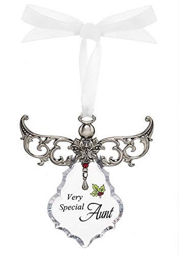 Very Special Aunt Clear Angel Gown Christmas Tree Ornament – By Ganz