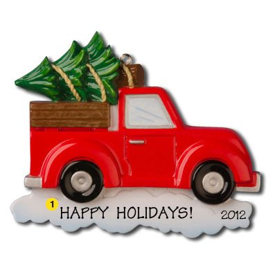 Pick up Truck with Tree Personalized Ornament