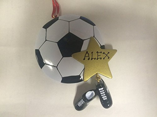Personalized Sports Soccer Ball Christmas Holiday Handwritten Ornament-free Personalization