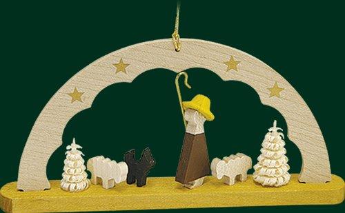 Hanging Christmas Tree Arc Shaped Ornament Shepherd Man, 1.8 Inches