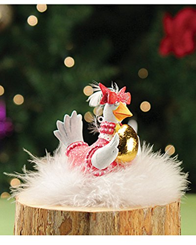 4″ Patience Brewster Krinkles Mini Goose A Laying 12 Days of Christmas Ornament