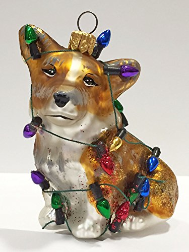 Ornaments to Remember: CORGI PUPPY (Christmas Lights) Christmas Ornament