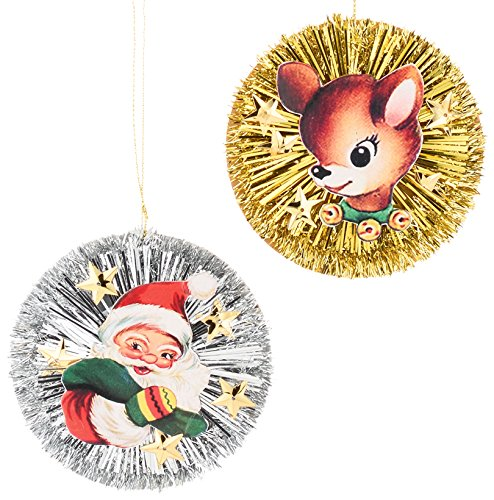 Department 56 Here Comes Santa Claus Reindeer Disc Ornament