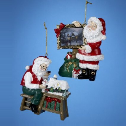 Thomas Kinkade Santa Ornaments Set of 2 New with Tags (Retired)