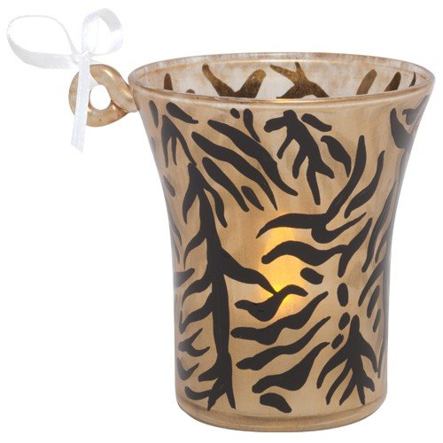 Santa Barbara Design Studio Lolita Holiday Mini Candle LED Ornament, Tiger