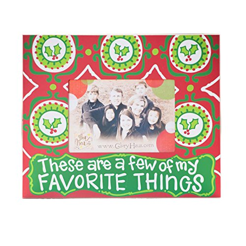 Glory Haus Favorite Things Christmas Holly Frame, 12 x 10-Inch