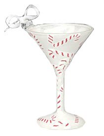 Lolita Martini Glass Christmas Ornament Peppermintini