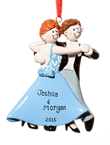 Couple Christmas Holiday Ball Room Dancers Ornament-Free Name Personalized-Shipped In One Day
