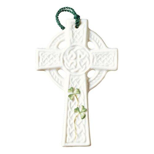 Belleek 4-Inch Saint Kieran's Cross Ornament