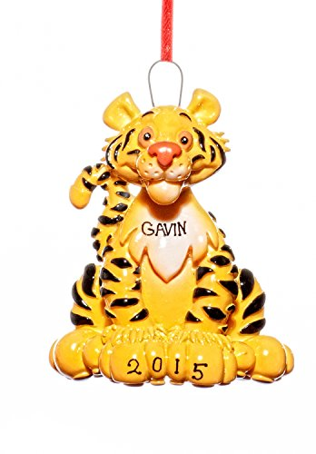 Animals Christmas Holiday Tiger Ornament-Free Name Personalized-Shipped In One Day