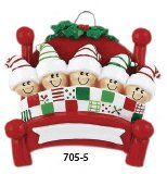Bed Heads Family of Five Ornament