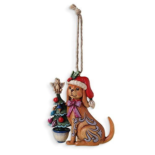 Best Designer Jewelry Jim Shore Christmas Dog w/ Tree Ornament