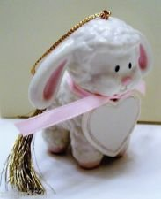 "Lenox ""Pink Lamb Ornament"" Christmas Tree Ornament"