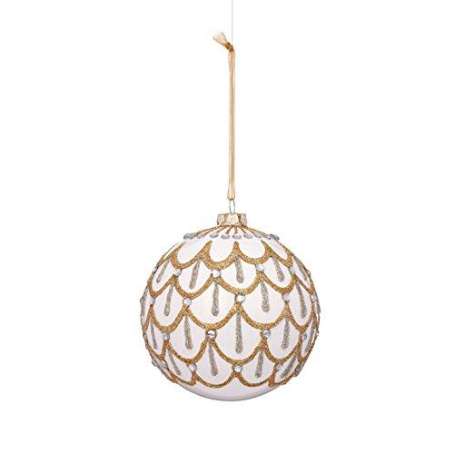 Drape Pattern Glass Ball Ornament (6-Pack)