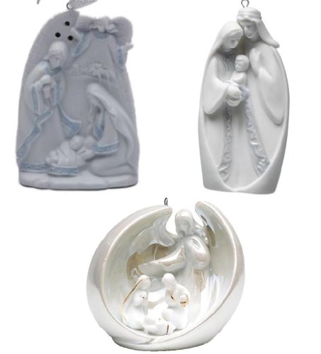 Appletree Gifts Holy Family and Angel 3 Pc Ornament Set
