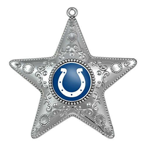 Indianapolis Colts – NFL Official 4.5″ Silver Star Ornament