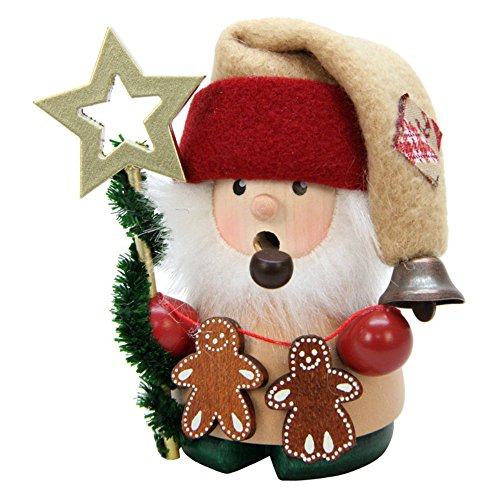 Ulbricht Mini Santa with Gingerbread Cookies Incense Smoker
