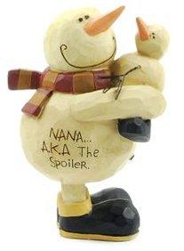 Nana Snowman Ornament / Figurine AKA the Spoiler (Nana Figurine)
