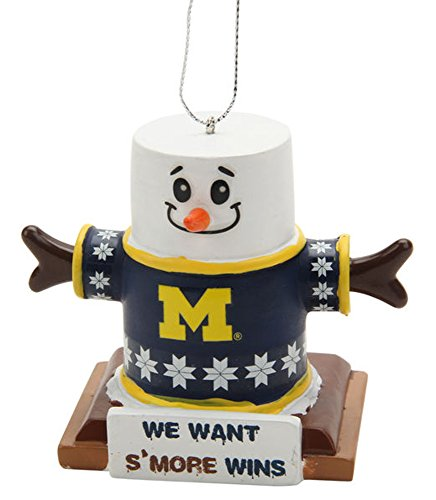 Michigan Wolverines NCAA S'mores Holiday Christmas Ornament