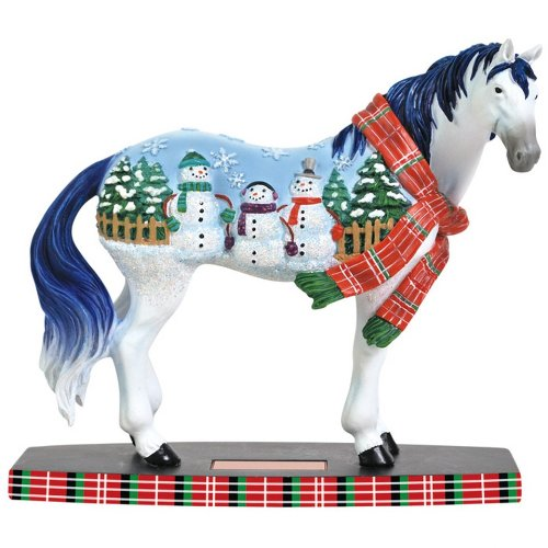 Westland Giftware Horse of a Different Color Figurine, 6.5-Inch, Snowman Mustang