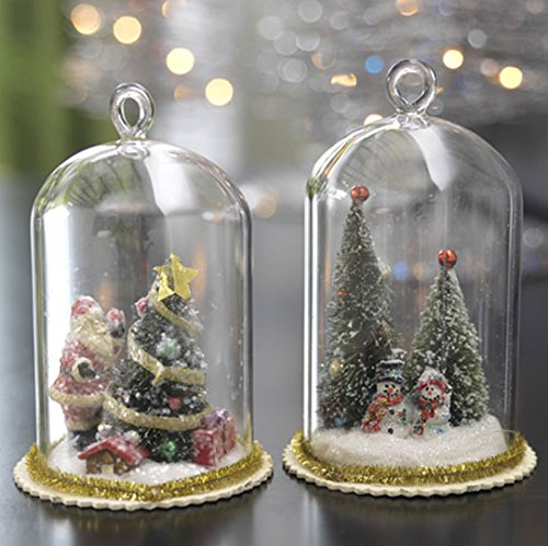 RAZ Imports – Christmas Tree in Glass Dome Ornaments