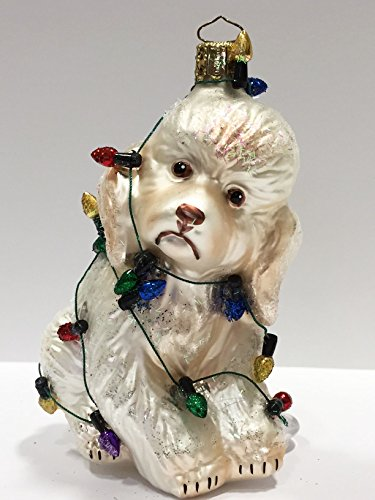 Ornaments to Remember: POODLE PUPPY (Christmas Lights) Christmas Ornament