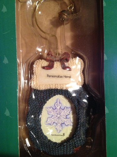 Boyds Bears Knitted Mitten Picture Frame Ornament