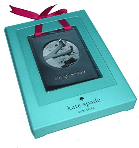 "Kate Spade Silver ""Kick Up Your Heels"" Ornament Frame 3.75 IN (9,5 CM)"