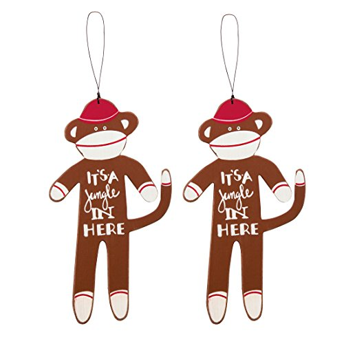 It's A Jungle In Here Monkey Ornament Set – 2 Pack