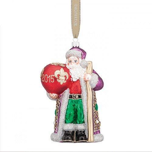 Waterford Mardi Gras 2015 Dated Santa Ornament