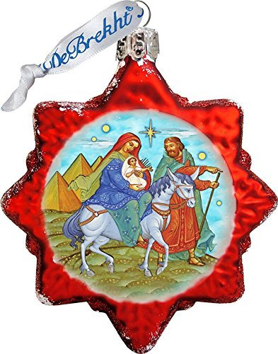 G. Debrekht Nativity Glass Ornament Figurine