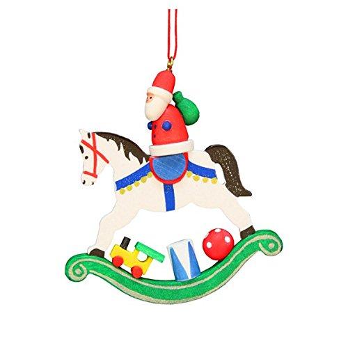 ULBR 10-0603 Christian Ulbricht Ornament – Santa on Rocking Horse