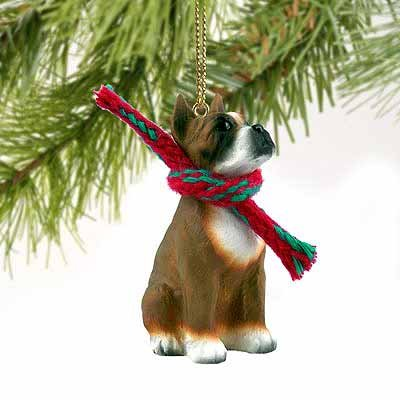 1 X Boxer Miniature Dog Ornament