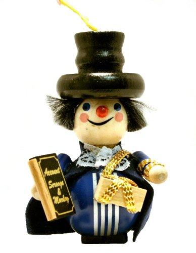 2013 Charles Dickens Marley's Ghost German Wooden Christmas Ornament