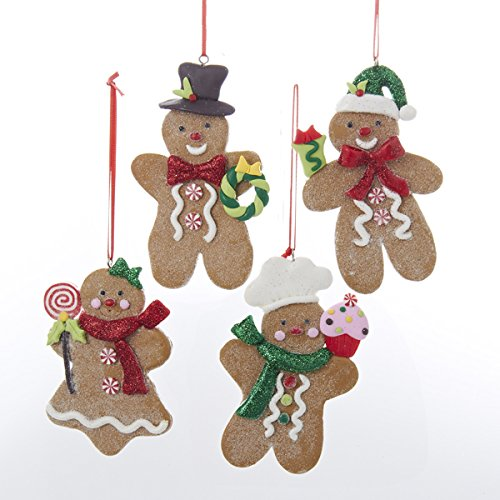 Kurt Adler Gingerbread Boy And Girl Ornament