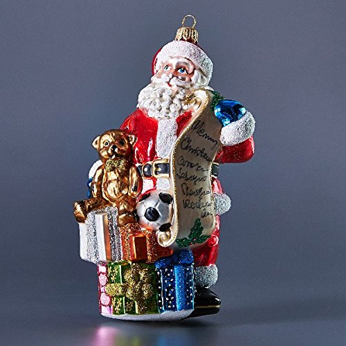 Santa with toys Christmas ornament