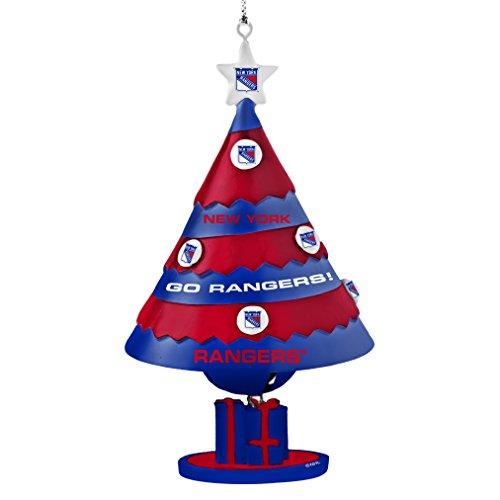 NHL New York Rangers Tree Bell Ornament, Blue, 5″