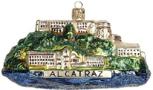 Alcatraz California Travel Polish Glass Christmas Ornament