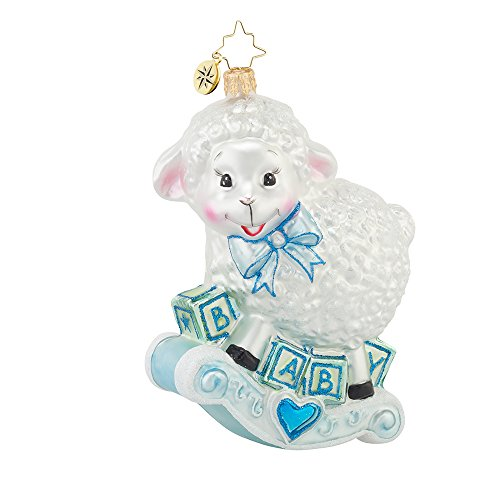 Christopher Radko Baa Baa Baby Boy Glass Christmas Ornament